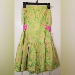 Vintage Lilly Pulitzer Strapless Dress Size 12